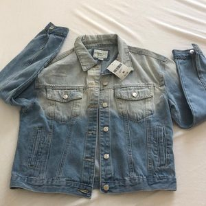 BRAND NEW WITH TAGS. Ombré denim jacket. Medium